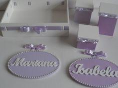 Kit lilás para gêmeas da ciaartes.com.br