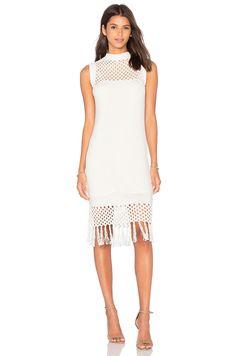amour vert Helen Knit Dress in White