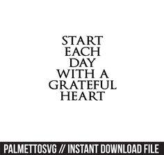 Silhouette Cameo, Silhouette Files, Grateful Heart, Monogram Fonts, Cutting Files, Cricut, Zip, Reading, Create