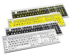 Kennst du schon unsere GROßSCHRIFT-TASTATUREN?  Optimal für Personen mit eingeschränktem Sehvermögen da die Tasten besonders groß und fett beschriftet sind und durch den Hell-Dunkel-Kontrast  die Zahlen und Ziffern deutlich hervor treten.   Die Tastatur gibt es in vier verschiedenen Farbkombinationen.