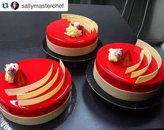 """Red"" Entremet for my class at @bculinary  @valrhonaes reposts @sallymasterchef with @repostapp. ・・・ Os presento a ROJO un espectáculo de sabores  | by Pastry Chef Antonio Bachour"