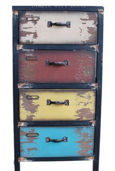 Amazon.com: Attraction Design Wood Antique 4-Drawer: Home & Kitchen