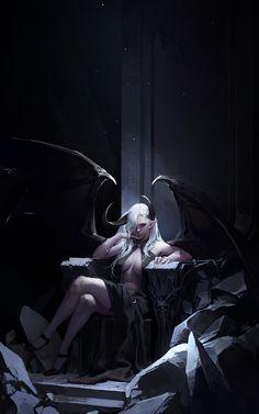 Succubus Queen, dongho Kang on ArtStation at https://www.artstation.com/artwork/2egaY