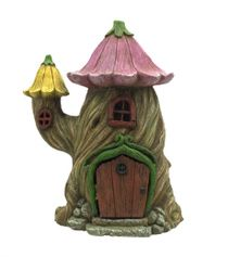 flower top cottage solar fairy garden cottages pinterest rh pinterest com fairy garden homes and cottages For the Garden Fairy Houses