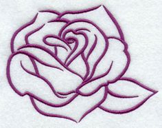 A light and open rose machine embroidery design.