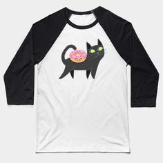 Cat and donut Baseball Tee by @plushism in @teepub