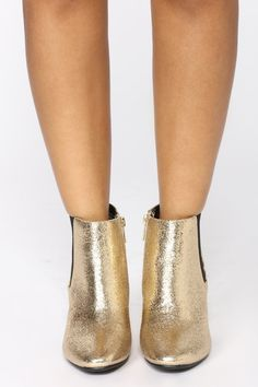 8a765d41f20 Rylie Ankle Bootie - Gold Bootie Boots
