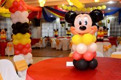 Balloon centerpeice mickeymouse 2nd Birthday, Minions, Mickey Mouse, Balloons, Cake Pops, Desserts, Food, Second Anniversary, Cake Pop