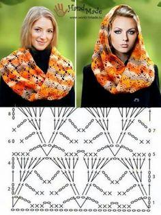 Crochet Diy, Crochet Coat, Crochet Blouse, Crochet Scarves, Crochet Clothes, Crochet Hooks, Crochet Shawl Diagram, Crochet Square Patterns, Crochet Symbols