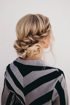 Travel Hairstyles, Easy Updo Hairstyles, No Heat Hairstyles, Blonde Hairstyles, School Hairstyles, Easy Updos For Medium Hair, Medium Hair Styles, Long Hair Styles, Updo For Long Hair