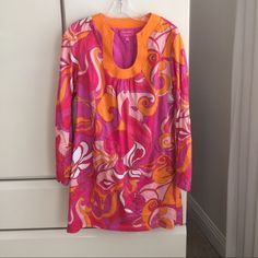 """Trina Turk Dress Trina Turk Dress for Banana Republic Summer 2012 collection. 60%cotton 40%silk Size 8   34"""" long. Super cute. Great condition. Use as a dress or coverup Trina Turk Dresses"""