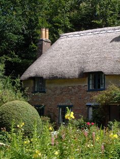 Thomas Hardy's Cottage in Higher Buckhampton, Dorset, England. He lived here until age Cozy Cottage, Cottage Living, Cottage Homes, Cottage Style, English Country Cottages, English Countryside, Cornwall, Cabins And Cottages, Cotswold Cottages