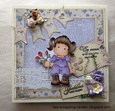 My newest card I made for someone's birthday! Teddy Bear, Scrapbook, Toys, Gallery, Birthday, Frame, Cards, Home Decor, Activity Toys