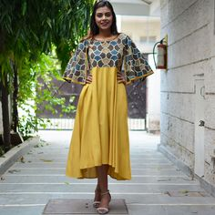 This collection of beautiful mix and match dresses is an ode to the diversity of our traditional crafts. Each dress gives a fresh character to an Indian craft, often in a beautiful medley with others. This one is for the modern Indian women, who cherishes her rich cultural roots. Contemporary designs teamed up with traditional Indian crafts and art forms like dabu, ajrakh, batik, handloom, hand block printing, tie dye and much more. Every design would give you the joy of owning Indian crafts…