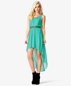 this is the dress i want in burgundy/wine or purple / plum, if anyone sees it let me know    High-Low Dress w/ Skinny Belt | FOREVER21 - 2038822575