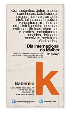 Dia Internacional da Mulher - BABENKO