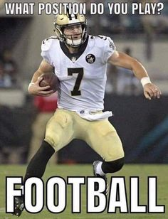He maybe a WR or TE but when he gets in the QB position, he kinda makes the play! Love what he did on the NFC Championship, Drew step aside and he came in a thru the ball making a Touchdown. Funny Football Memes, Nfl Memes, Sports Memes, Football Comedy, Nfl Football Players, Giants Football, Football Season, Nfl Saints, New Orleans Saints Football