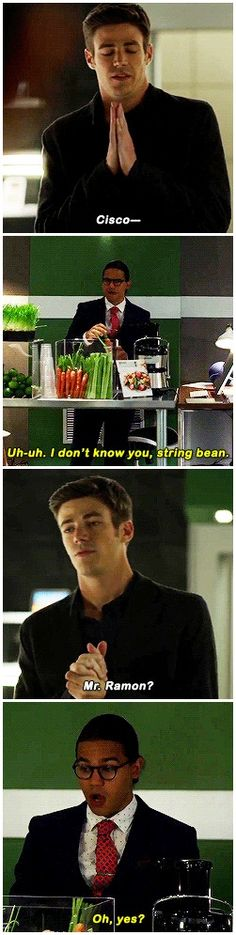"""""""I don't know you, string bean"""" - Cisco and Barry #TheFlash"""