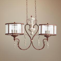 Quorum La Maison 6-Light Manchester Grey Island Chandelier - lamps plus 34 inches