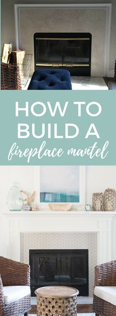 How to build a fireplace mantel - update a 90s fireplace into a modern focal piece of a room!