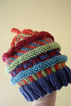 Pipa's hat. Great texture. Super way to use up scraps