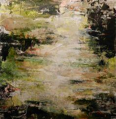 New piece, Ozero, 36x34.5 inches, acrylic on canvas