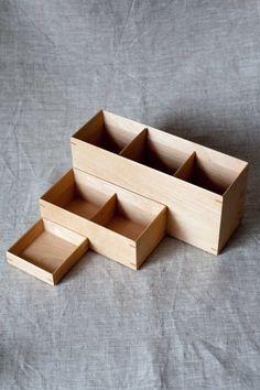 Oak Village - Wooden Stationery Caddy (Set A)