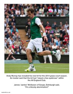 Andy Murray new kit - Grass Court Season 2014