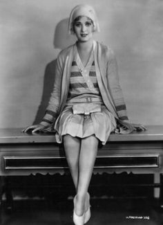 """Dolores Costello in flapper outfit. She is known as """"The Goddess of the Silent Screen"""". Harlem Renaissance, 1930s Fashion, Vintage Fashion, Vintage Style, Flapper Outfit, Dolores Costello, Silent Film Stars, Art Deco, 20th Century Fashion"""