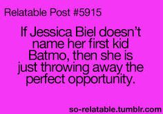 Batmo ... don't throw away the perfect opportunity