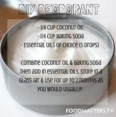DIY Deodorant! Minutes to make, money-saving, body-loving recipes!
