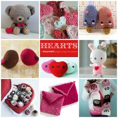 Free Little Amigurumi Crochet Patterns for Valentine's Day...these are all so sweet!