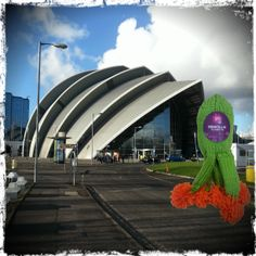 Got me a #selfie outside the Clyde Auditorium #Glasgow #KnitMeAFriend #Microbe  http://www.glasgowcityofscience.com/get-involved/knitting-microbes