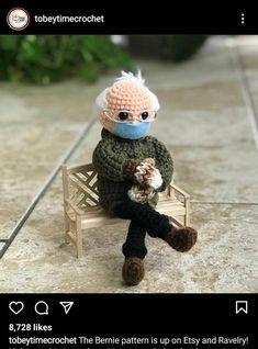 Bernie Sanders Doll Made To Order Etsy In 2021 Crochet Charity Support Custom Crochet
