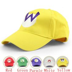 Cheap hat summer, Buy Quality hat cap sale directly from China cap fun Suppliers: Free Shipping 5pcs Super Mario baseball Hats Adjustable Mario Luigi Wario Waluigi 5 Colors Baseball Hat Kid'd Cap&nbsp