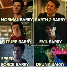 Berry Allen of the Marvel Comics flash inspired-show airing on the CW TV Network. Superhero Shows, Superhero Memes, Arrow Flash, Berry Allen, Flash Funny, Flash Barry Allen, Flash Wallpaper, The Flash Grant Gustin, Funny Quotes