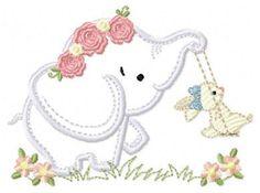 Elephant Applique, Elephant Pattern, Elephant Design, Towel Embroidery, Machine Embroidery Patterns, Embroidery Applique, Mother And Baby Elephant, Baby 1st Birthday, Stitch Design