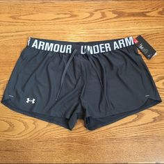 Under Armour Shorts Brand new with tags Under Armour shorts. Bundle & save! This pair is gray and white.  Top Rated Seller Ships same/next day! Always arrives in style Under Armour Shorts