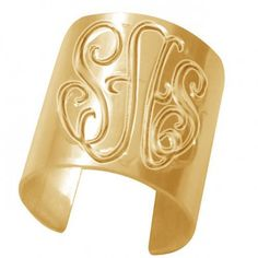 #ketisorelydesignsArtfire on Artfire                #ring                     #Personalized #Monogrammed #Ring #(Order #Initials) #Gold #Overlay            Personalized Monogrammed Ring (Order Any Initials) - 24K Gold Overlay                                   http://www.seapai.com/product.aspx?PID=468722