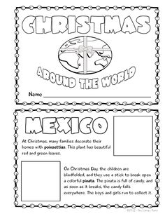 This cute mini book is the perfect way to teach students about Christmas Around the World. Won't take tons of time to do! and creations Ideas Christmas Activities, Classroom Activities, Christmas Traditions, Book Activities, Preschool Bulletin, Classroom Ideas, Winter Activities, Therapy Activities, Holidays Around The World