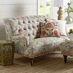 Couch Old Floral.Ethan Allen Floral Sofa New England Home Furniture . African Chair Frumpy Chairs Get A Tribal Fabric Makeover . 11 Ways To Make Your Beat Up Couch Look Brand New Hometalk. Home and Family Sofa Design, Interior Design, Vintage Sofa, Couch And Loveseat, Sofa Set, Salons Cottage, Floral Sofa, Muebles Shabby Chic, Cool House Designs