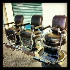 Antique barber chair restorations