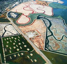 """Entry Title: """" Salt ponds in San Francisco""""  Name: Dolly Kabaria, India   Category: Professional, Aerial"""