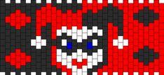 Harley Quinn bead pattern