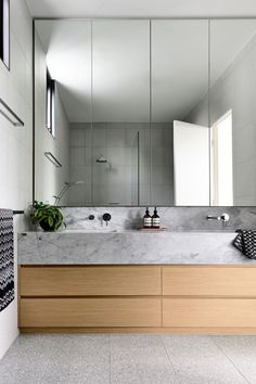 Bathroom decor for your bathroom remodel. Discover bathroom organization, bathroom decor ideas, bathroom tile ideas, bathroom paint colors, and more. Bathroom Renos, Laundry In Bathroom, Bathroom Layout, Bathroom Interior Design, Small Bathroom, Light Gray Bathrooms, Concrete Sink Bathroom, Small Luxury Bathrooms, Shared Bathroom
