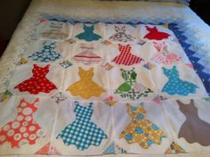 The Cutest Ever Hand Appliqued Quilt Top 34x34 by VAMountainQuilts, $ ...