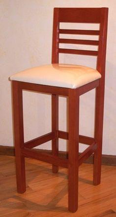 Banco de madera para barra cocina restaurante mdn piso for Bancos de bar de madera