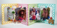 Kelly Booth using the Pop it Ups Fancy Accordion die (available now) with the Seasons Fancy Frame Edges (available mid-July2014) by Karen Burniston for Elizabeth Craft Designs - Lovin The Life I Color: A Photo Card for the Karen Burniston Designer Challenge this month