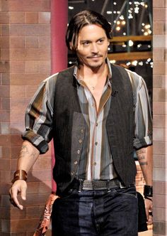 "Johnny Depp makes a guest appearance on the CBS Television Network's ""Late Show ... 25-06-2009"