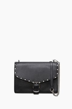 Medium Biker Crossbody - Let's grab a drink. This is a great night-out bag that fits a bit more than its mini twin. It has that same sleek structured body, a main compartment with interior slits for tiny items, a back pocket for easy access to your phone, and a detachable strap for crossbody-clutch options. Hardware brings in that, well, biker-inspired edge.      Style#:HU17EDBX81